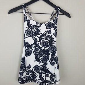 LULULEMON Free To Be Tank | Black & White Floral 4